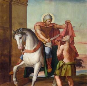 Louis Anselme Longa, La Charité de Saint-Martin Huile sur toile. Eglise de Saint-Martin d'Oney, Foto: Par Abmg (Travail personnel) [CC-BY-SA-3.0 (http://creativecommons.org/licenses/by-sa/3.0)], via Wikimedia Commons